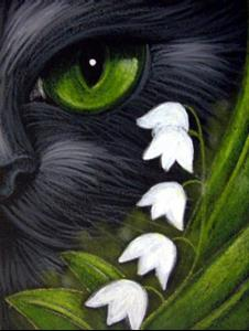 Black Cat May Lily Of The Valley Flowers By Cyra R