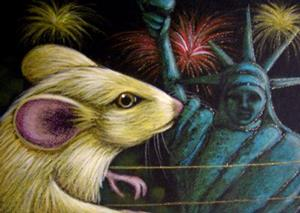 Detail Image for art MOUSE - JULY 4TH STATUE OF LIBERTY
