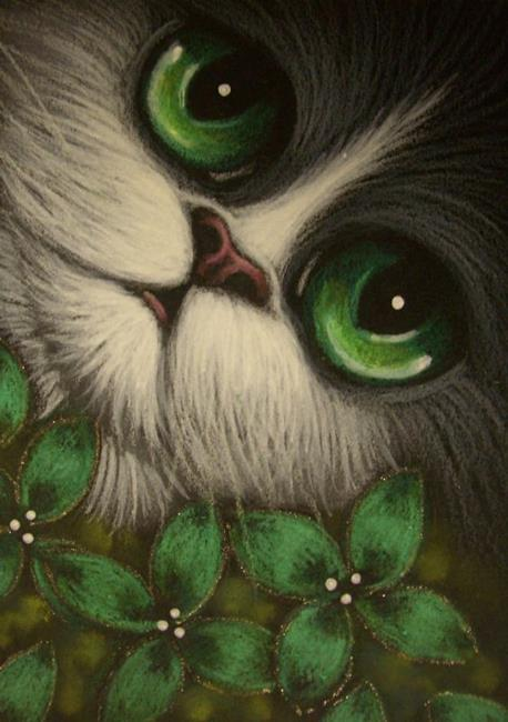 BICOLOR PERSIAN CAT GREEN EYES - by Cyra R. Cancel from ...