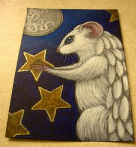 Detail Image for art WHITE ANGEL RAT MICE MOUSE 2