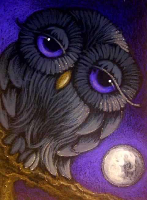Owl Eyes Paintings ... Owls Wallpaper on ...