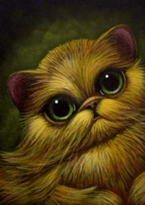 Red Golden Persian Cat Big Eyes By Cyra R Cancel From
