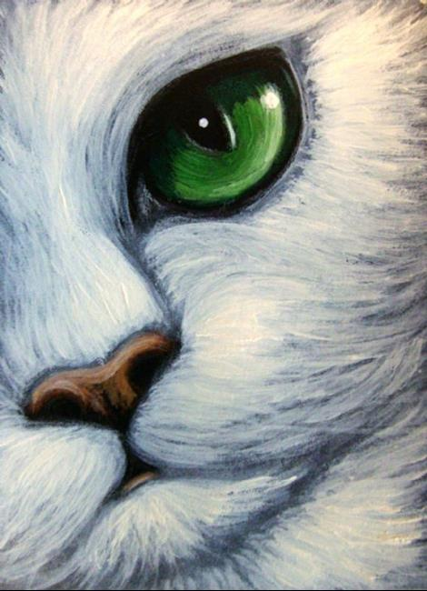White Cat Emerald Eyes By Cyra R Cancel From Gallery