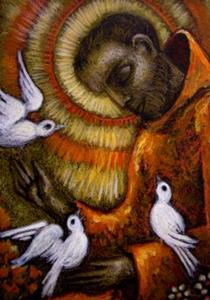 Detail Image for art **SAINT FRANCIS OF ASSISI & DOVES