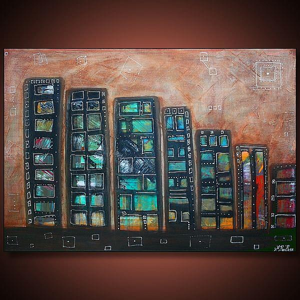 Art: City Squared by Artist Laura Barbosa