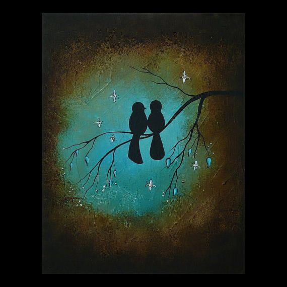 Art: Lovebirds - sold by Artist Charlene Murray Zatloukal