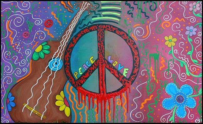 Art: Peace and Love 2 by Artist Laura Barbosa
