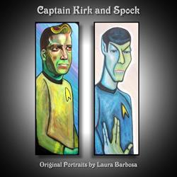 Art: Captain Kirk and Spock by Artist Laura Barbosa