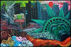 Art: The Fall Of Liberty by Artist Laura Barbosa