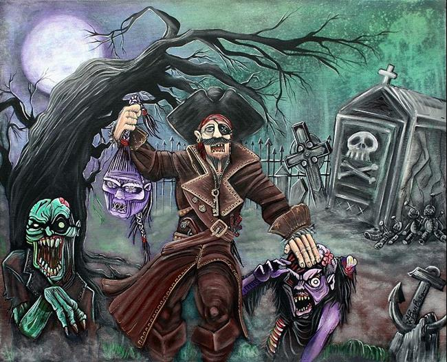 Art: Pirate's Graveyard by Artist Laura Barbosa