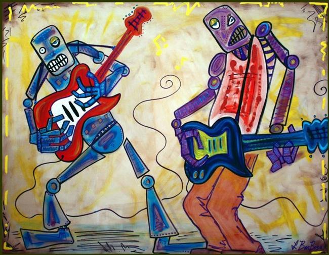 Art: Electric Robots by Artist Laura Barbosa