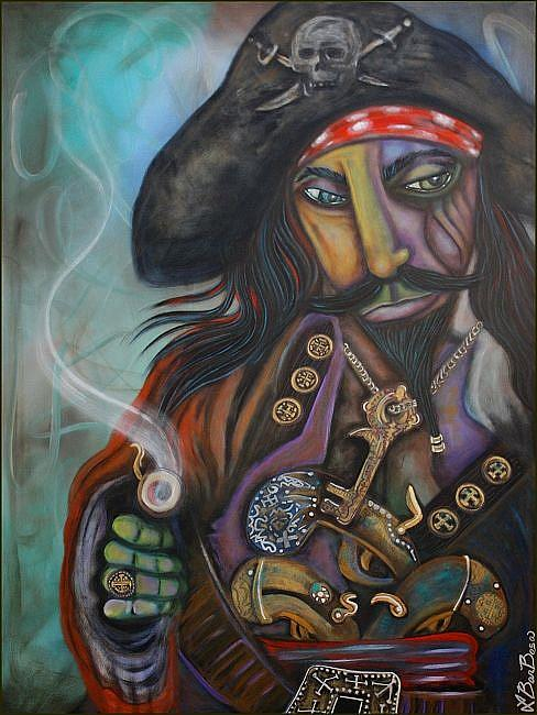 Art: Captain Barbosa by Artist Laura Barbosa