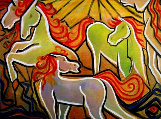 Art: The Horse Dance by Artist Laura Barbosa