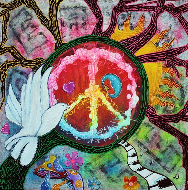 Art: Peace Tree by Artist Laura Barbosa