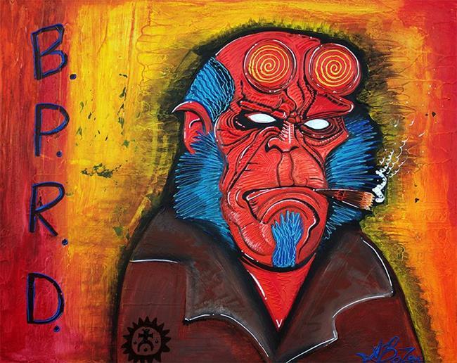 Art: B.P.R.D. by Artist Laura Barbosa