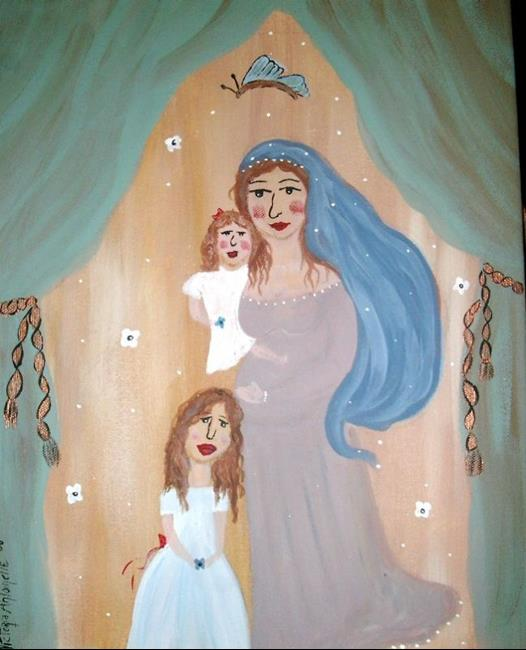 Art: Blessings by Artist Vyckie Van Goth