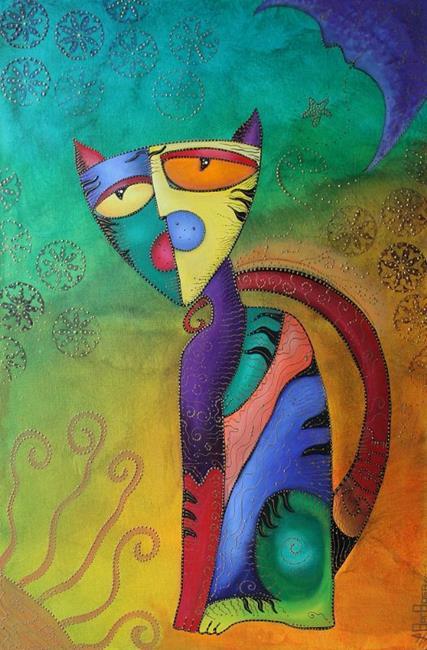 Art: Celestial Cat by Artist Laura Barbosa