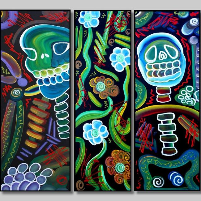 Art: Sugar Skull Spirits by Artist Laura Barbosa