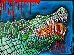 Art: Crocodile Lollipop by Artist Laura Barbosa