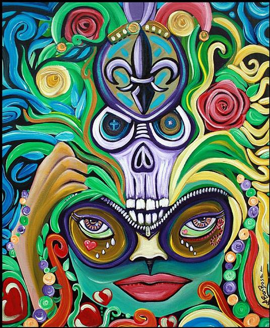 Art: Mardi Gras Magic by Artist Laura Barbosa