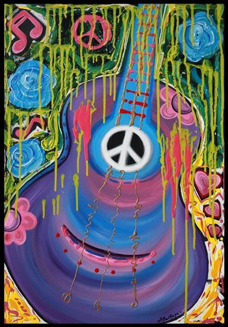 Art: Peace Guitar by Artist Laura Barbosa