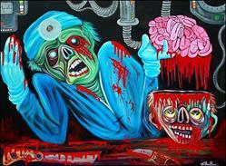 Art: Zombie Brain Surgeon by Artist Laura Barbosa