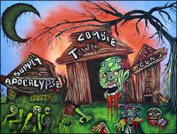 Art: Zombie Town by Artist Laura Barbosa