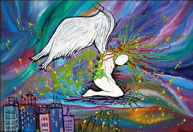Art: The Fallen Angel 2012 by Artist Laura Barbosa