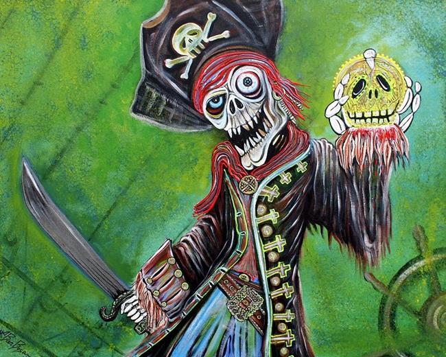 Art: Pirate Quest - The Golden Skull by Artist Laura Barbosa