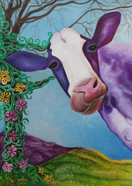 Art: Moo by Artist Laura Barbosa