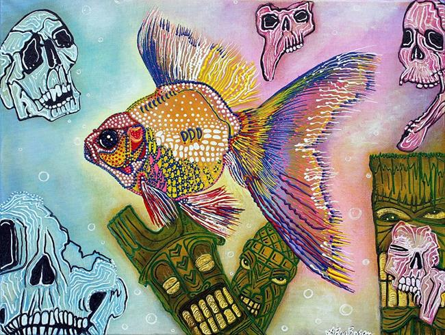 Art: Goldfish Spirits by Artist Laura Barbosa
