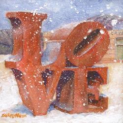 Art: Snow Love by Artist Erika Nelson