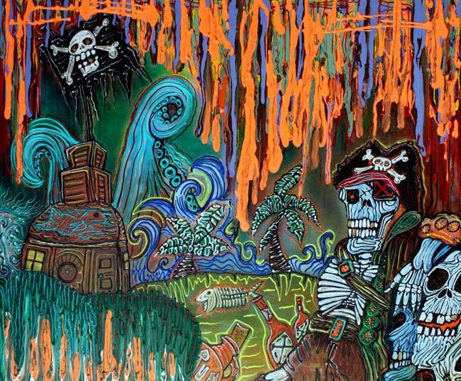 Art: Pirate's Cove by Artist Laura Barbosa