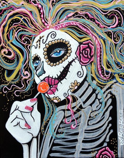 Art: Sugar Skull Lollipop by Artist Laura Barbosa