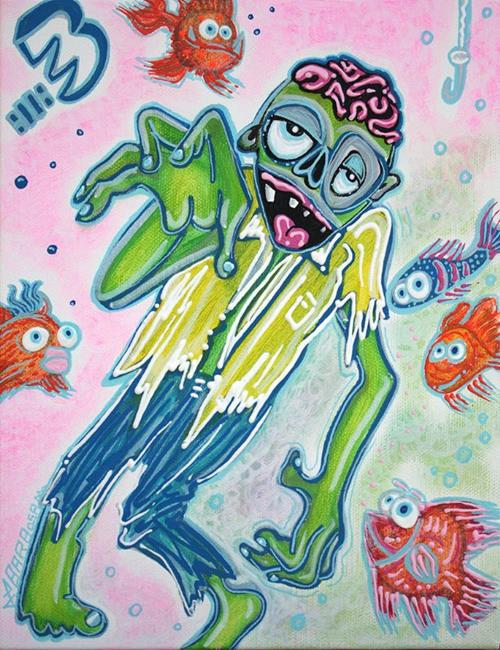 Art: My Pet Zombie #3 -Fish Bait by Artist Laura Barbosa