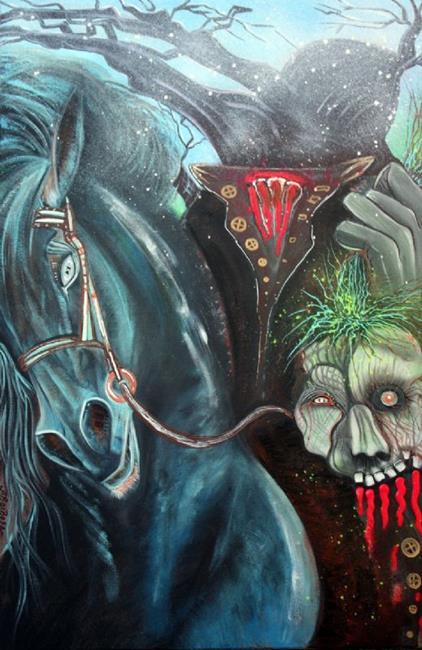 Art: Headless Horseman by Artist Laura Barbosa