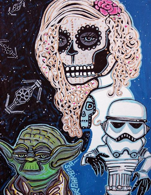 Art: Star Wars Sugar Skull by Artist Laura Barbosa