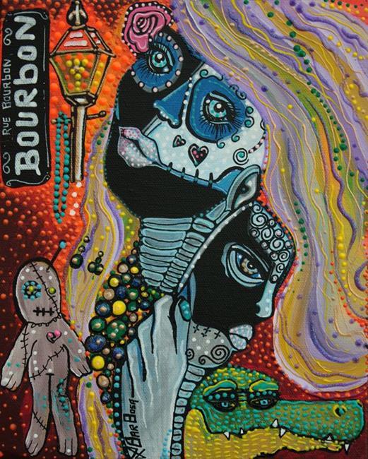 Art: Dreaming of Mardi Gras by Artist Laura Barbosa