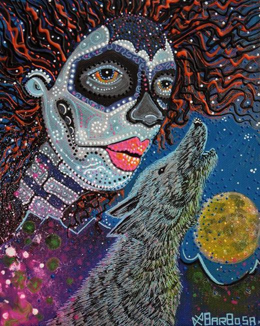 Art: Spirit Of The Wolf by Artist Laura Barbosa