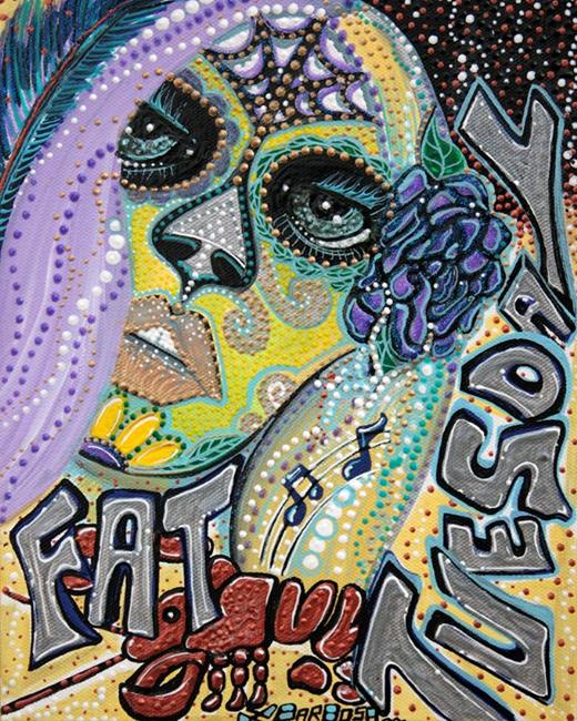 Art: Fat Tuesday by Artist Laura Barbosa