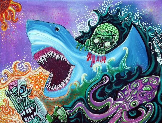 Art: Zombie HandFishin by Artist Laura Barbosa