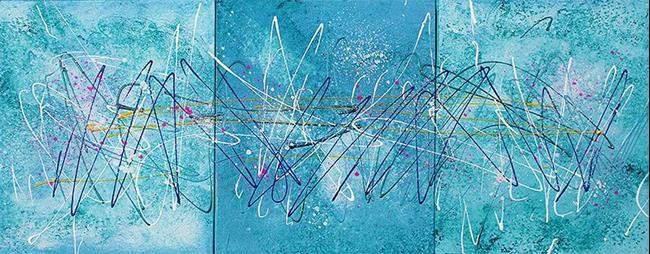 Art: Brilliant Blue by Artist Laura Barbosa