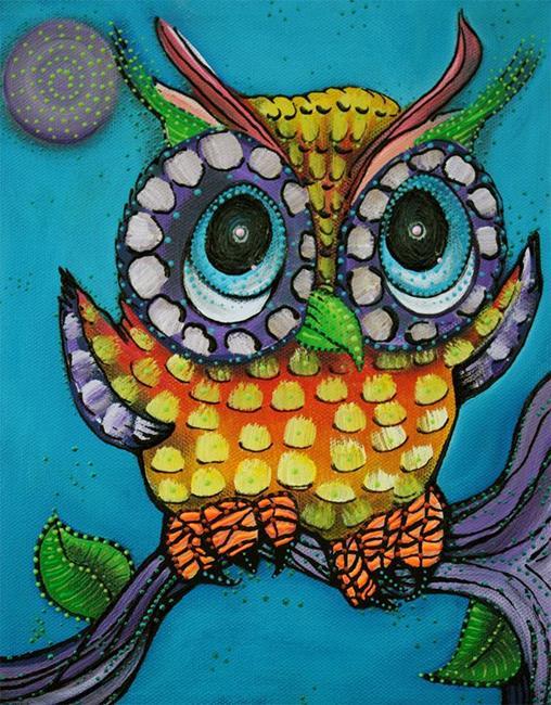 Art: Little Owl by Artist Laura Barbosa