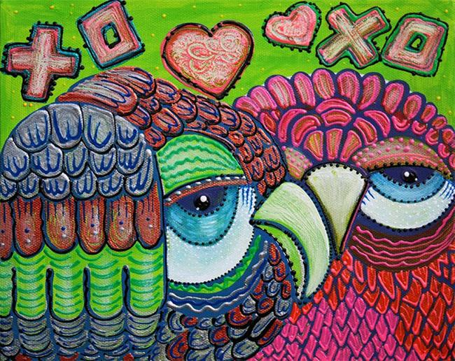 Art: Owl Love by Artist Laura Barbosa