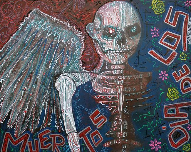 Art: Angel De Los Muertos by Artist Laura Barbosa