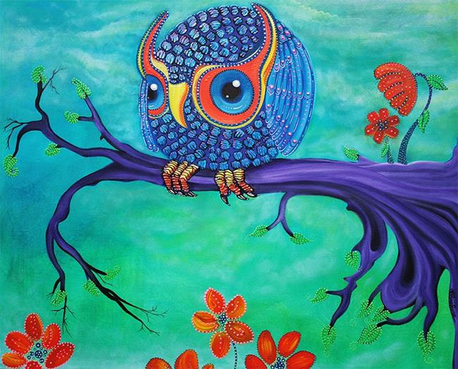 Art: Enchanted Owl by Artist Laura Barbosa