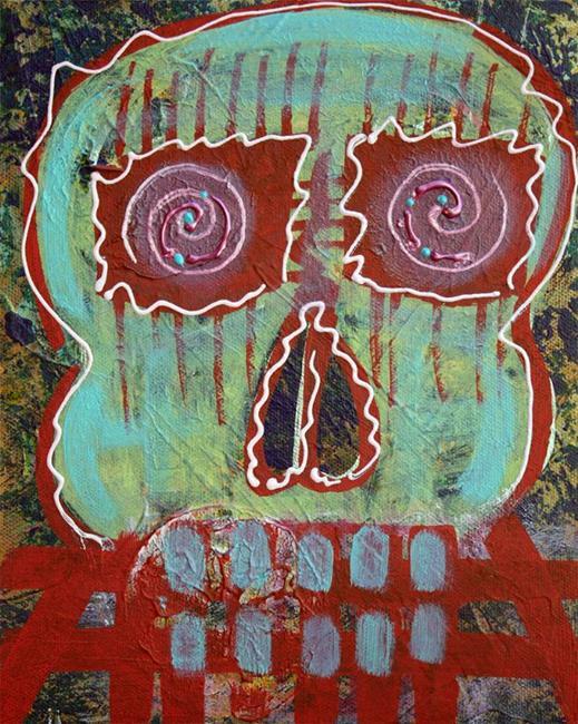 Art: Primitive Skull by Artist Laura Barbosa