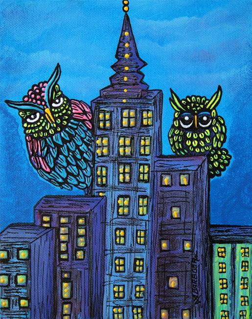 Art: Night Owls by Artist Laura Barbosa