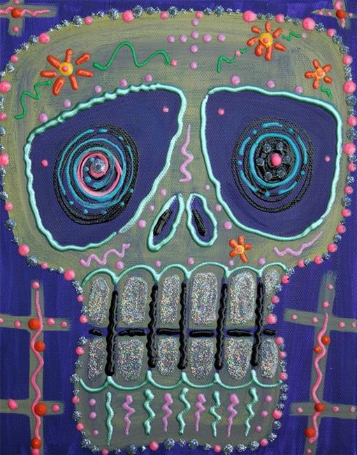 Art: Candy Sugar Skull by Artist Laura Barbosa