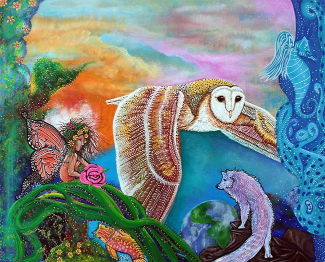 Art: Worlds Away by Artist Laura Barbosa